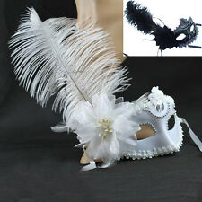 Ladies Feather Party Flower Venetian Masquerade Halloween Prom Costume Ball Mask