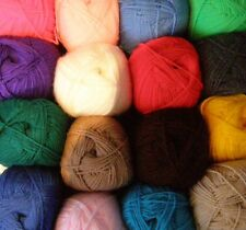 5 X 100g BALL PACKS (500g) OF WOOLCRAFT ACRYLIC DOUBLE KNITTING DK YARN