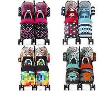 Cosatto SUPA DUPA TWIN/DOUBLE STROLLER/PUSHCHAIR/BUGGY Baby/Toddler Travel BN