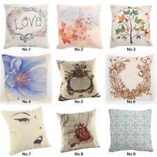 "18"" Square Home Decor Cushion Cover Throw Pillow Case Waist Sofa Love Bed Room"