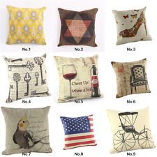 """New Vintage Throw Pillow Case Cushion Cover 18"""" Home Decorative Sofa Yellow"""