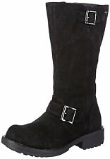 NEW Rocket Dog knockout Womens Boots Biker Style Zip-up Boots Shoes 3-8 Black