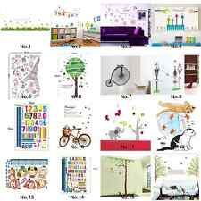 New Home Decor Decal Mural Wall Sticker Paper Removable Flower Clusters Garden