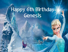 Frozen Anna & Elsa edible frosting icing cake toppers and images