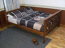 MISSION TWIN OR FULL UPGRADEABLE BED & SAFETY RAILS *5 STAINS*  AMISH MADE