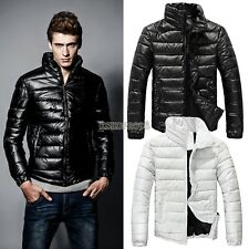 Fashion Hot Winter Warm Wear Stand Collar Men's Down Slim Parka Jacket Coats Top