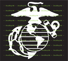 USMC Marine Corps Emblem / Mascot - Vinyl Die-Cut Peel N' Stick Decal / Sticker