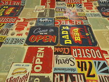 PVC American Diner Retro Cool  Oilcloth Vinyl Tablecloth Wipe Easy 140CM Wide