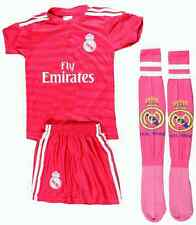 RONALDO #7 Real Madrid Away Pink Kids Soccer Jersey & Shorts All Youth Size