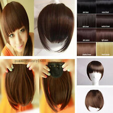 clip in on bangs fringes Hair Extensions black brown blonde for Women favored ss
