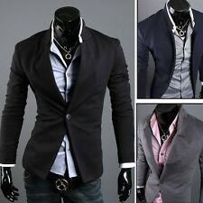 3 Colors Men's Comft Slim Suit Dress Fitting line One Button Blazer Coat Jacket