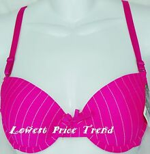 1 Bra or Lot of 6 Bras,Underwire Striped Demi-Cup 34B36B38B34C36C38C40C BR4065P