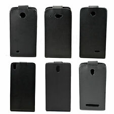 Black Flip Magnetic PU Leather Phone Pouch Case Cover Accessories For HTC Desire