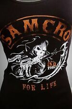 SONS OF ANARCHY SOA CHARGING GRIM REAPER JRS GIRLS RIBBED TANK TOP SHIRT S-XL