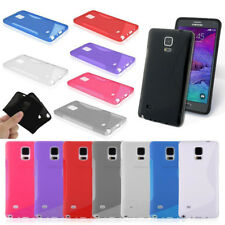 Gel S-line Rubber TPU Silicone Cover Skin Case for Samsung Galaxy Note 4, N910
