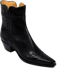 Lucchese Charlie 1 Horse I4524 Womens Black Calf Leather Western Cowboy Boots