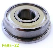 F695 ZZ Metal Sealed Flanged Bearing 5x13x4mm Flanged F695zz - Choose Pack Size