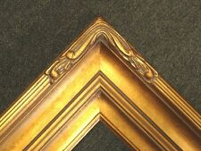 "5"" Picture Frame Wide huge Gold Leaf Ornate photo family Oil Painting Wood 607G"