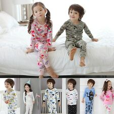 ToryBam Toddler Baby Girsl Boys Thermal Long Sleeve Sleepwear Pajamas Sets NWT