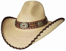 NEW Montecarlo Bullhide GOLDEN DAWN 20X Palm Leaf GUS Western Straw Cowboy Hat