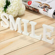 8X1.2cm Wood Wooden White Letters Alphabet Wedding  Birthday  Decorations thick