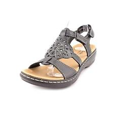 Clarks Leisa Taffy Womens Wide Open Toe Leather Slingback Sandals Shoes