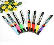 New Colorful Neon Liquid Chalk Marker pen board glass sign(3mm)wet wipe8Colors