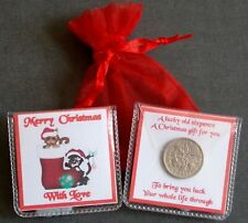 CHRISTMAS CATS WITH LOVE  LUCKY SIXPENCE STOCKING FILLER KEEPSAKE GIFT