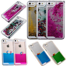 For Apple Samsung Quicksand Bling Glitter Clear Hard Back Patterned Case Cover