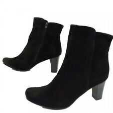 2 LIPS TOO LADIES FAUX SUEDE ANKLE BOOTS BLACK FULL INSIDE ZIP SIZE UK NEW