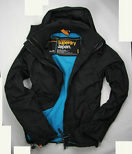 Superdry Mens Hooded Arctic Windcheater Jacket Black/ Blue