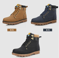 MEN'S TRAINERS WORK SAFETY SHOES LEATHER BOOTS STEEL TOE CAP ANKLE BOOTS SHOES