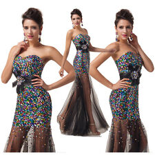 Cyber Monday New Long Formal Evening Bridesmaid Dresses Prom Party Dress Gown