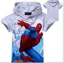New Arrival Spider Man Clothes  Kids Boys T shirt Top Hoody Short Sleeve