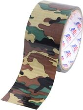 "Woodland Camouflage 100 MPH Tape Roll 2"" Self-Clinging Military Tape"