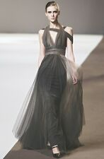ELIE SAAB Brown Ombre Tulle Lace Silk Dress Gown 6 or 12