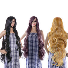 "40"" 100cm Long curly Wave Lolita Cosplay Fashion Hair Heatproof Full Anime Wig"