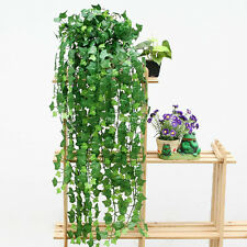 Boston Ivy Green Artificial Fake Hanging Plant Vine Foliage Flowers Party Decor