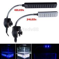 Flexible Aquarium Fish 24 48-LED Clip Light Lamp 3/4 Modes Plant Grow AU Plug