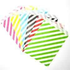 Party favour paper bags 25 pack striped lolly candy loot birthday wedding gift