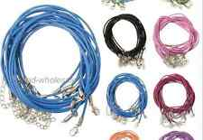 Leather 2mm Cord Lobster Clasp Fit Pendant Necklace Chains Findings 10Pcs