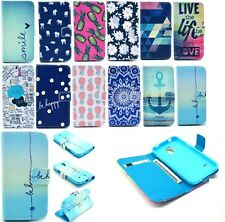 Magnetic Flip Leather+Rubber Case Stand Wallet Cover For Various Samsung Phone