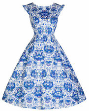 NEW LINDY BOP 'RUTH' DELIGHTFULLY DARLING VINTAGE PRINT 50'S INSPIRED TEA DRESS