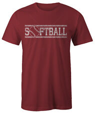 SOFTBALL T-Shirt 100% Cotton sizes Small sm - xl XLarge cotton short sleeve NEW