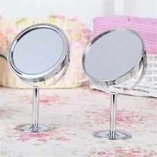 Lady Beauty Make Up Cosmetic Double Side Normal Magnifying Stand Silver Mirror