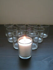 Beautiful Clear Glass Tea Light Candle Holders Bulk Quantity Wedding Party! New