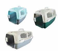 NEW PLASTIC PET CARRIER FOR DOG PUPPY KITTEN CAT RABBIT TRAVEL TRANSPORT CAGE