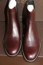 NIB New GUCCI Men's Leather Ankle Boots Shoes 247492 GUCCI 7-7.5 (US 7.5-8) $800