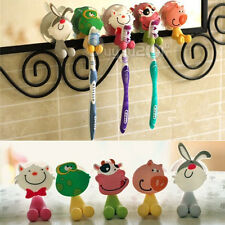 Silicone Stand Mount With Suction Wall Hanger Bathroom Cartoon Toothbrush Holder