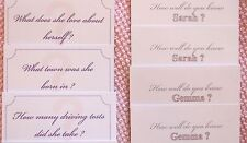 Personalised How Well Do You Know The Bride Cards. Hen Night Party Games.